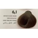 Saphir Professional Intense Color Tinta Capelli in crema  N.6.1 Biondo Scuro Cenere -100ml